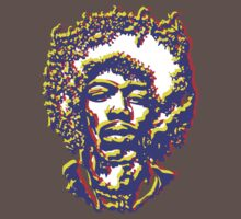 Jimi Hendrix Face - Colour by Steve Dunkley
