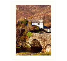 Cottage on the River Duddon Art Print