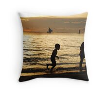 Happy Children Throw Pillow