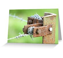 Barbs Rust Greeting Card