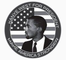 Kanye West For President Badge (Black&White) T-Shirt