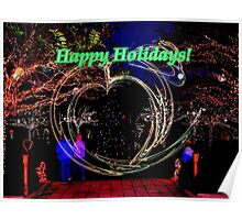 Holiday lights in the Gardens Poster