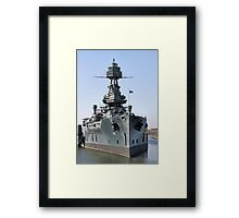 Battleship Texas Framed Print