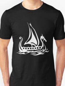 Cartoon Fishing Sailing Boat T-Shirt