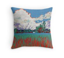 The Rice Fields - Thailand Countryside Throw Pillow