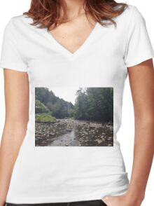 Summer Creek by Thomas Bahr II Women's Fitted V-Neck T-Shirt
