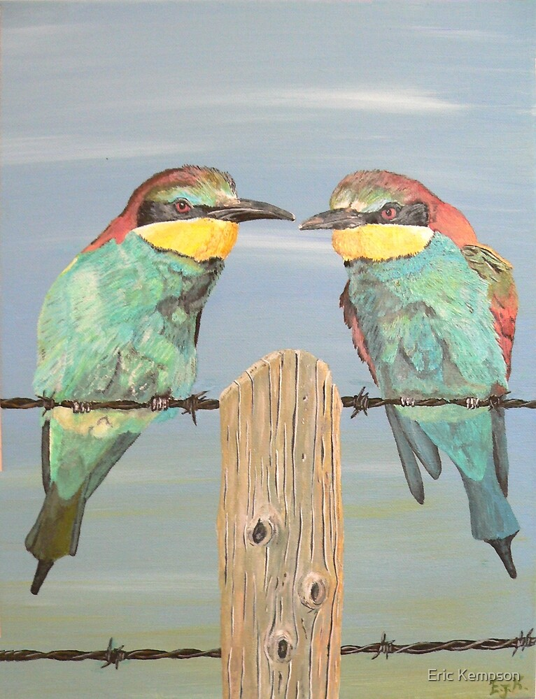 On The Wire, Bee-eaters by Eric Kempson