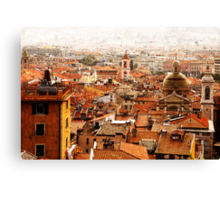 old Nice roofs Canvas Print