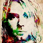 Kurt Cobain Urban Watercolor by Michael Tompsett