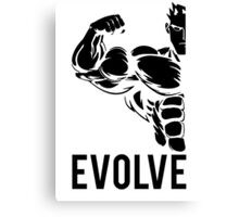 Evolve Fitness Running Muscle BodyBuilding Canvas Print