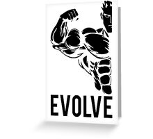 Evolve Fitness Running Muscle BodyBuilding Greeting Card