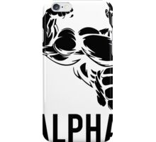 Alpha Fitness Running Muscle BodyBuilding iPhone Case/Skin