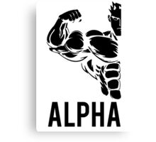 Alpha Fitness Running Muscle BodyBuilding Canvas Print