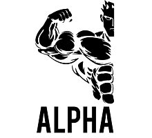 Alpha Fitness Running Muscle BodyBuilding Photographic Print