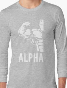 Alpha Fitness Running Muscle BodyBuilding Long Sleeve T-Shirt
