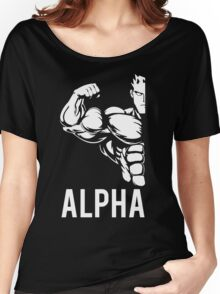 Alpha Fitness Running Muscle BodyBuilding Women's Relaxed Fit T-Shirt