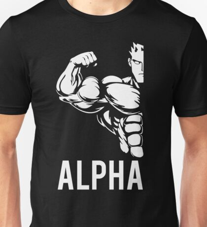 Alpha Fitness Running Muscle BodyBuilding Unisex T-Shirt