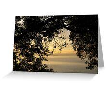 An ocean through the trees Greeting Card