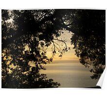 An ocean through the trees Poster