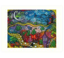 A Starlit Walk Art Print