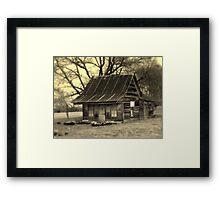 Vintage Dollhouse Cabin Framed Print