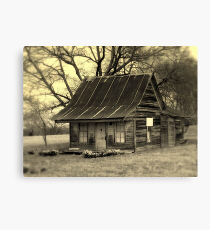 Vintage Dollhouse Cabin Canvas Print