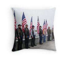 RIDERS FROM DIFFERENT CLUBS ALL OVER CALIFORNIA Throw Pillow
