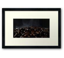 Hot beans, Close up of espresso beans Framed Print
