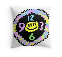 Happy Time Clock Throw Pillow