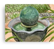 Netha's Fountain Canvas Print