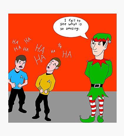 Elf Spock Photographic Print