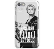 "Zoro ""Straight Outta Est Blue"" iPhone Case/Skin"