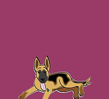 German Shepherd Puppy by Diana-Lee Saville