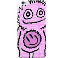 Mister Happy Belly Pink iPhone Case/Skin