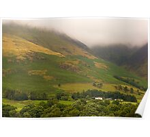 Misty Mountains in The Lakes  Poster