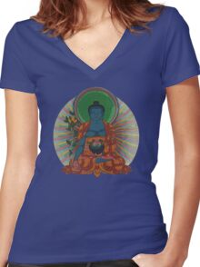 Adi-Buddha Women's Fitted V-Neck T-Shirt