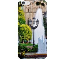 Fountain in front of the Church iPhone Case/Skin
