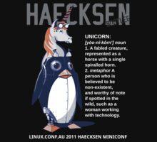 Haecksen miniconf LCA2011 - Bootleg shirt by kattekrab