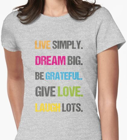Inspiring Happiness Quote  Womens Fitted T-Shirt