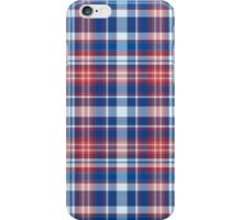 Red White and Blue Plaid iPhone Case/Skin