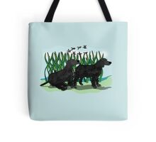 Black Curly Coated Retriever  Tote Bag