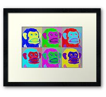 Pop Goes the Jolly Chimp Framed Print