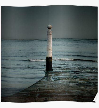 Lisbon pier Poster