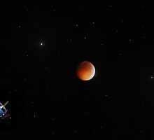 Lunar Eclipse and Luna Moth  by Mattie Bryant