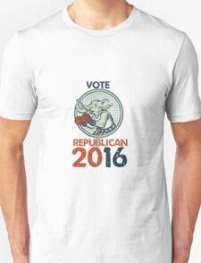 Vote Republican 2016 Elephant Boxer Etching T-Shirt