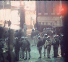 police riot. berkeley by mel zimmer