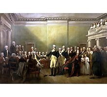 General Washington Resigning His Commission Photographic Print