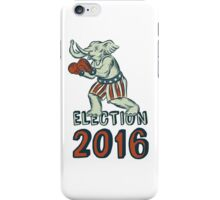 Election 2016 Republican Elephant Boxer Etching iPhone Case/Skin