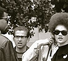 eldridge and Kathleen Cleaver by mel zimmer