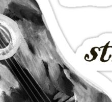 Shall strum the strings unto the Lord 4 Sticker
